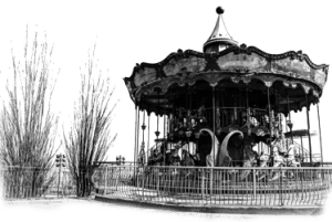 Manuche Postcards from - Carousel Paris