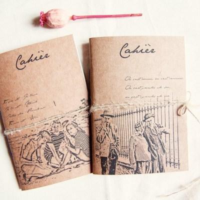 Manuche Jules et Jim handmade notebook