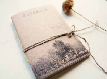 Nowhere memories notebook rilegatura a mano