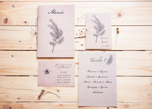 Invitations and wedding stationery for Giacomo e Roberta bridal
