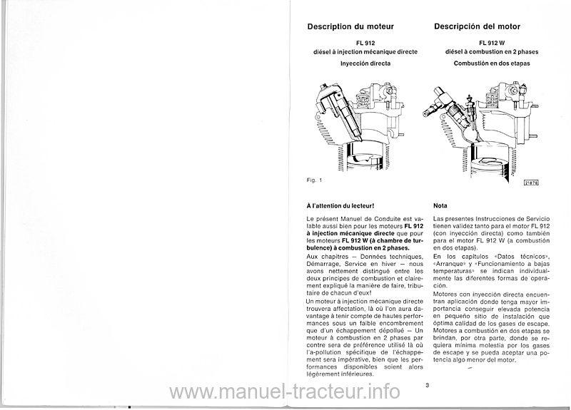 Manuel entretien moteurs DEUTZ F3-6L 912 912 W