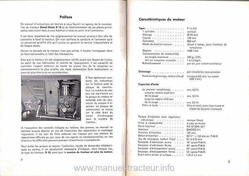 Manuel instructions DEUTZ D 15