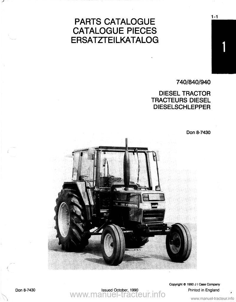 Catalogue pièces CASE IH 740 840 940