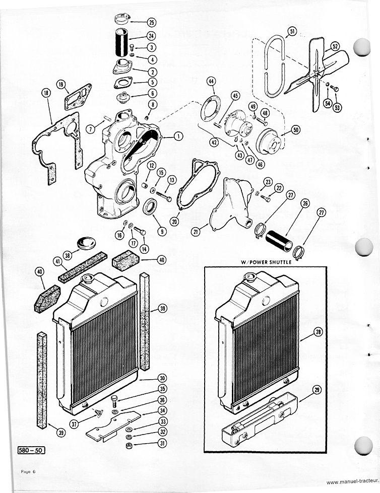 Catalogue de pièces détachées CASE 580CK