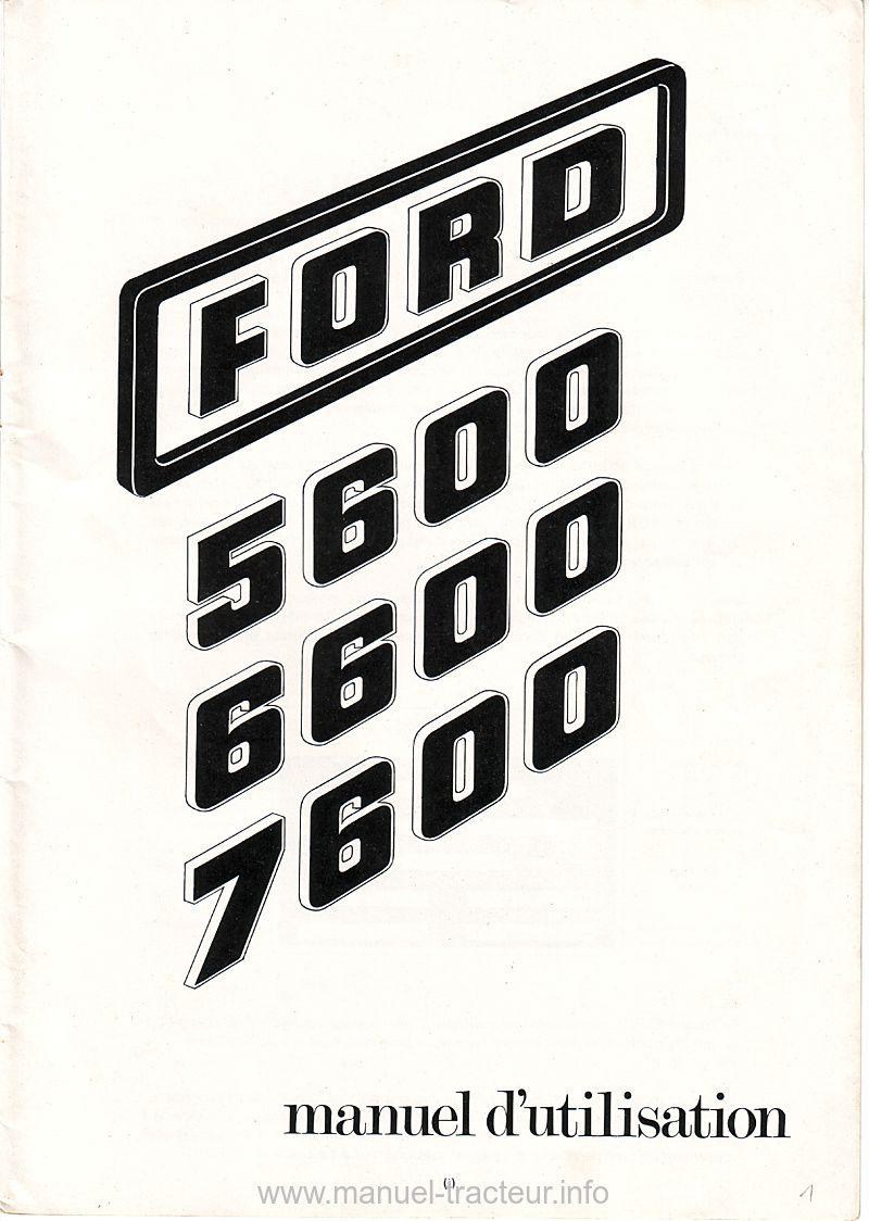 manuel utilisation FORD 5600 6600 7600