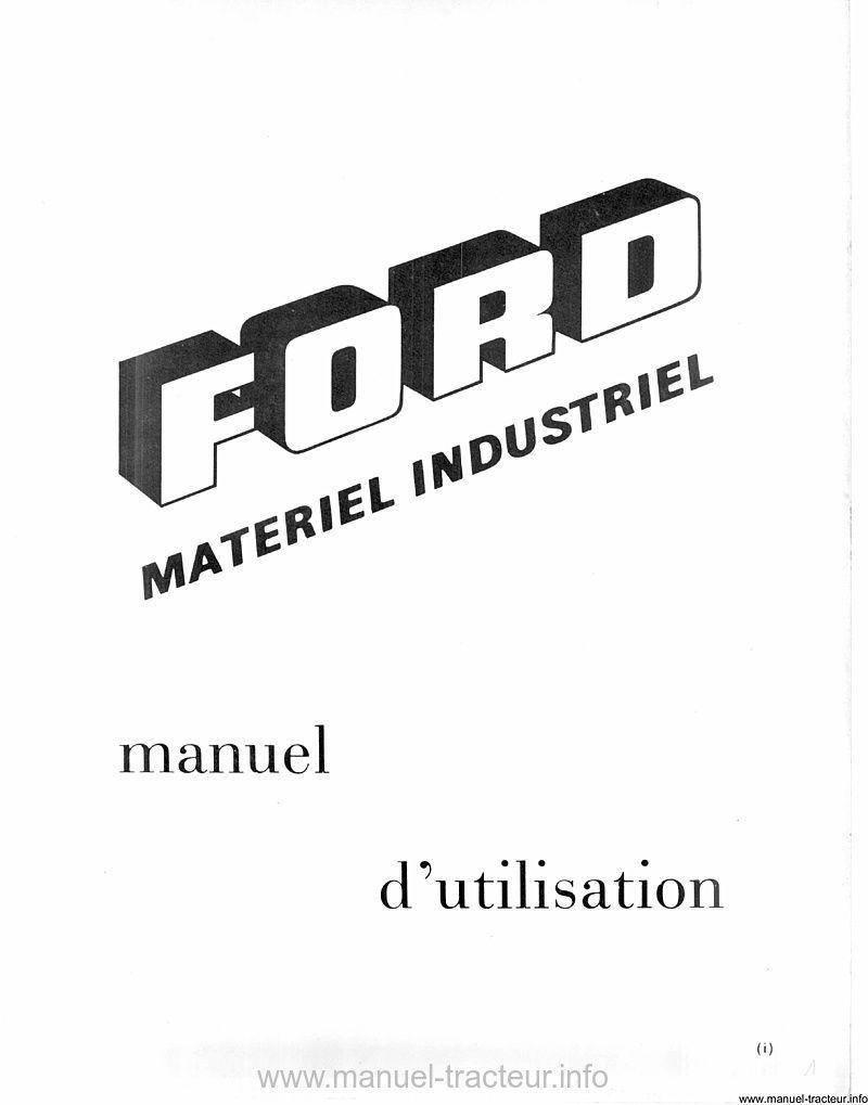 manuel utilisation tractopelles FORD 3550 4550