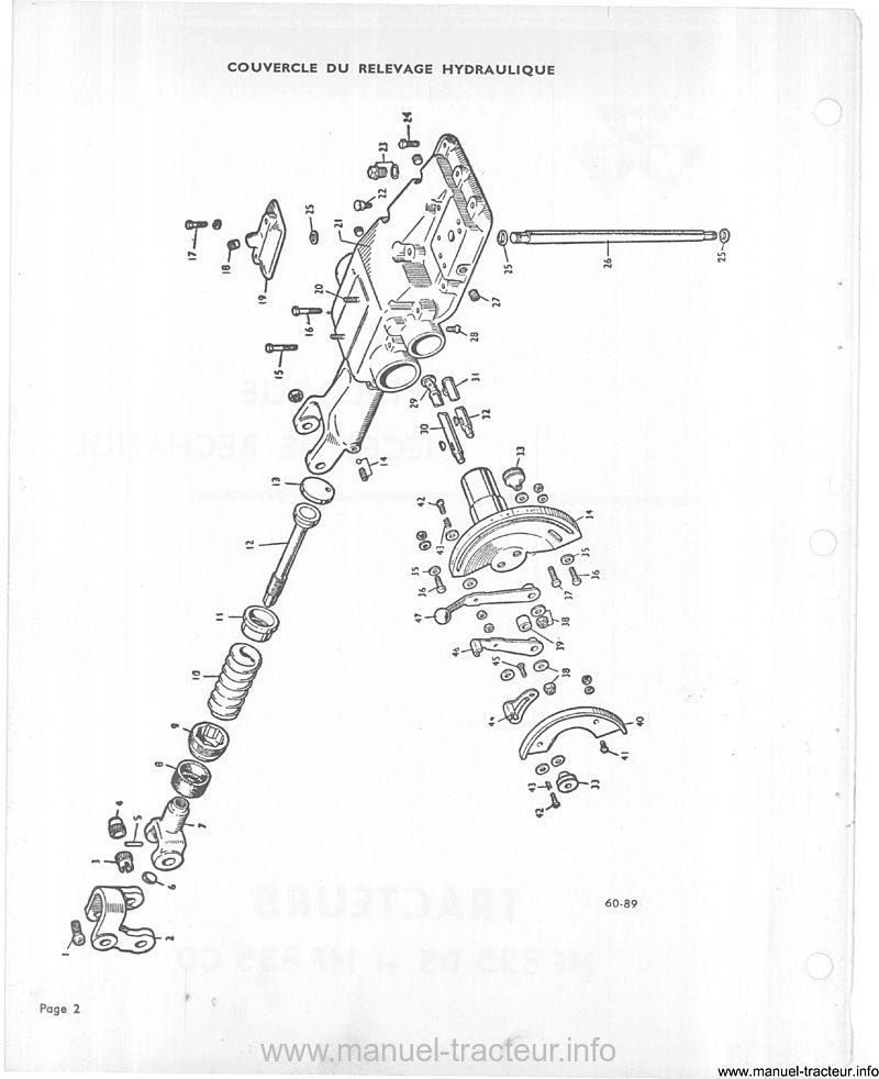 Catalogue pièces rechange MASSEY FERGUSON MF 835 DS CD