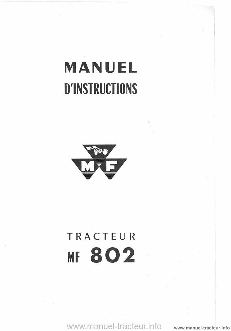 Manuel instructions MF 802