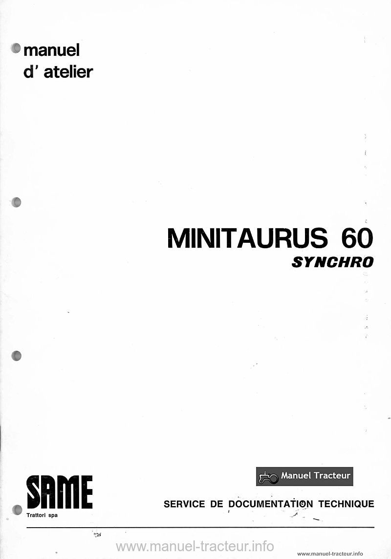Manuel atelier SAME Minitaurus 60