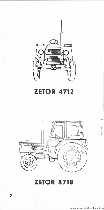Guide entretien ZETOR 4712 4718 5711 5718 5745 5748 6711