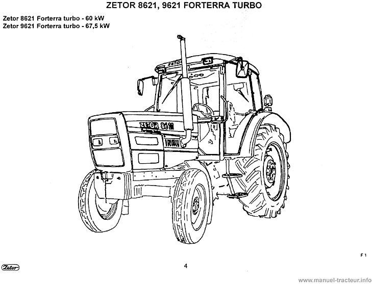 Guide entretien Zetor 8621 8641 9621 8641 10641 11641