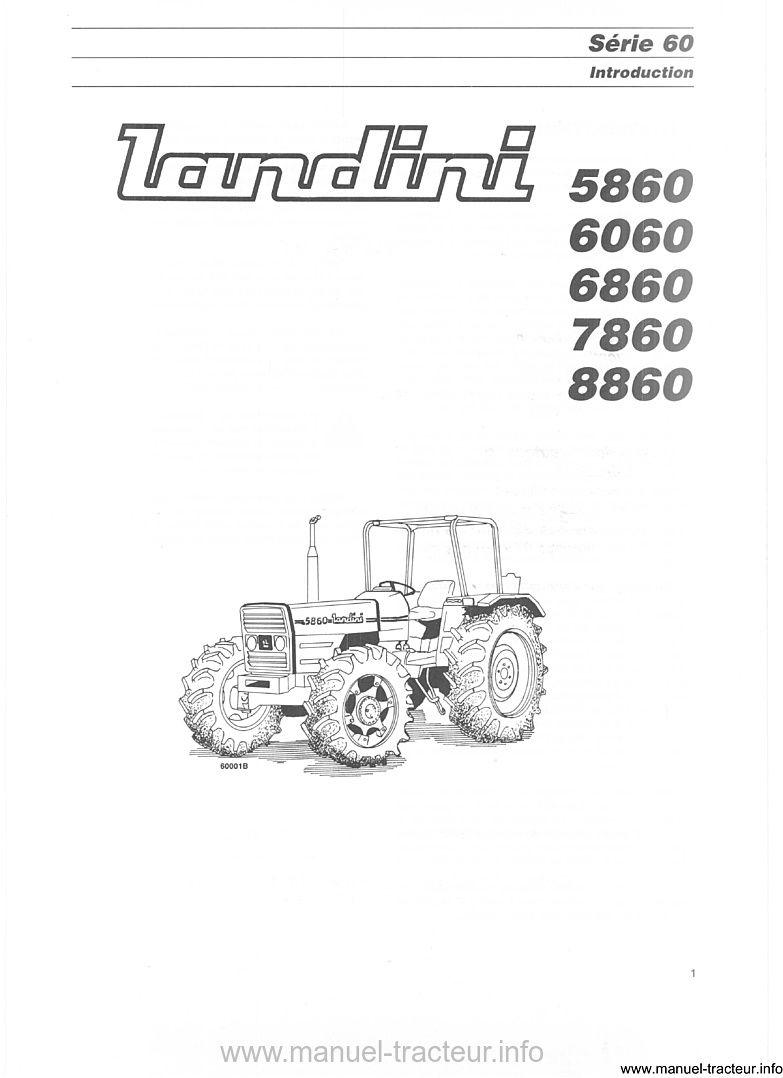 Notice entretien LANDINI 5860 6060 6860 7860 8860