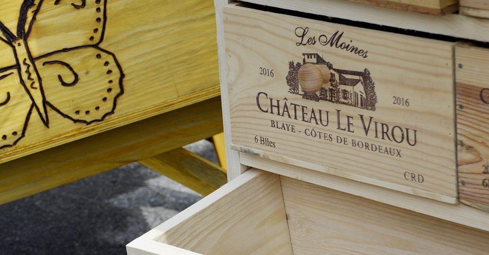 recycler des caisses de vin