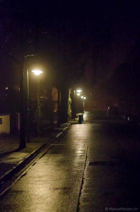 Thun Seefeld Nacht Laterne