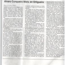 Álvaro Cunqueiro, en Ortigueira, por Feliciano Crespo en La voz de Ortigueira