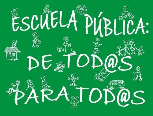 Camiseta de la Marea verde que reivindica la escuela pública