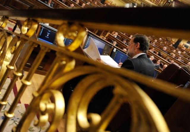 Mariano Rajoy durante el debate de investidura, imagen de AFP Photo, tomada por Dani Pozo