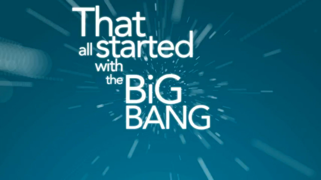 The Big Bang Theory cabecera hecha con tipografía