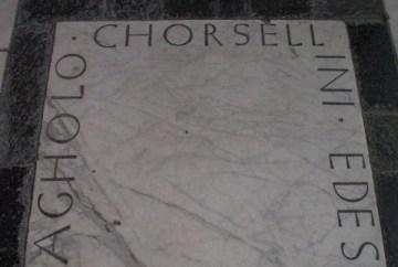 Lápida en la que supuestamente se inspiró Zapf para el diseño de Optima