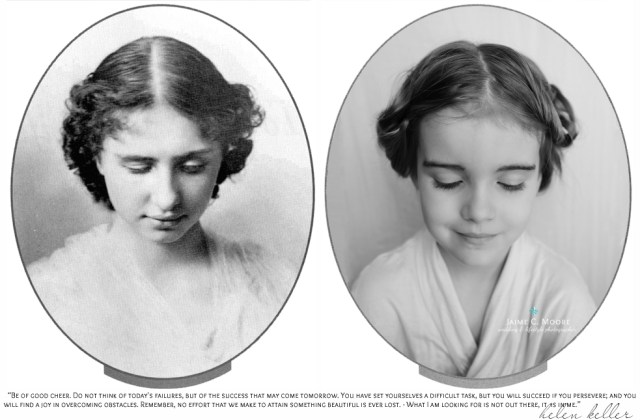 Helen Keller y Emma, foto de Jaime C. Moore
