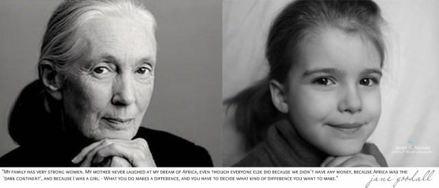 Jane Goodall y Emma, foto de Jaime C. Moore