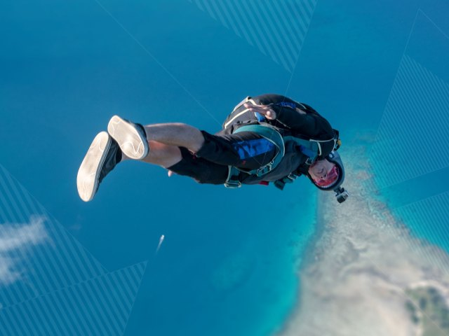 Angus Sellen comfort testing over Fiji - Why Fiji...? Sun, Sand and Salt. Photo by Kian Bullock