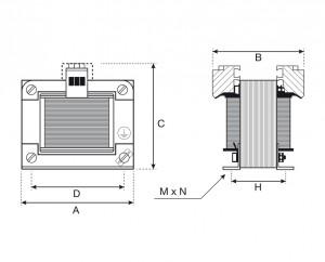 Single-Phase isolation transformers 230V / 400V-115V / 230Vac