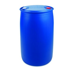 220 Litre Plastic Blue Tighthead Drum with Single L Ring and UN Approved