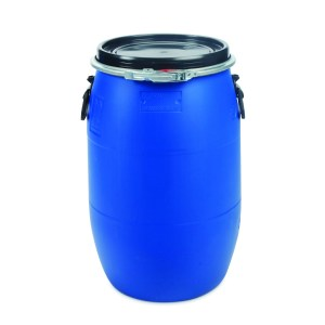 60 litre plastic open top drum that is un approved in colour blue