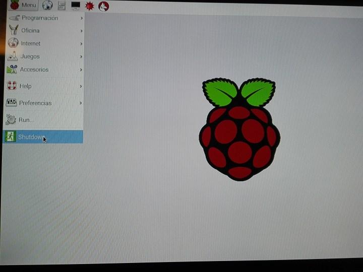 Apagando la Raspberry Pi