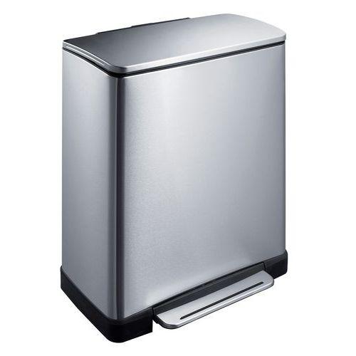 poubelle a pedale e cube rectangulaire 50 l manutan fr