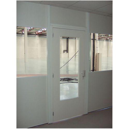 porte battante pour cloisons d atelier melamine panneau semi vitre hauteur 2 53 m manutan fr