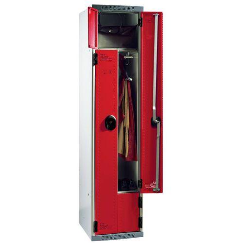 vestiaire porte l 1 et 2 colonnes largeur 400 mm sur socle acial manutan fr