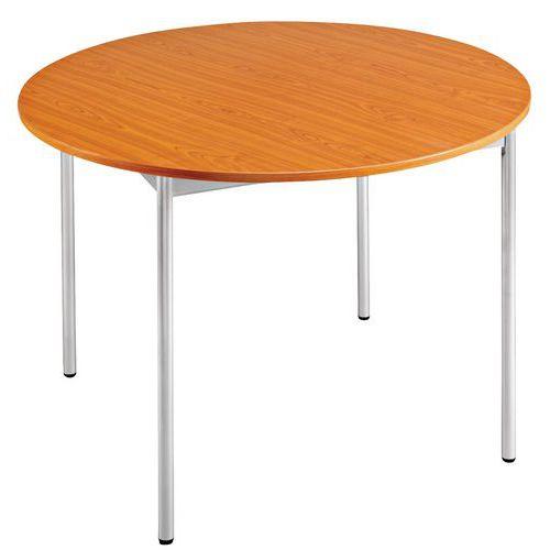 table ronde 4 pieds en merisier manutan fr
