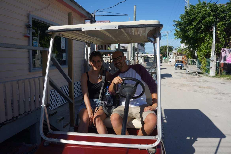 caye caulker golf cart