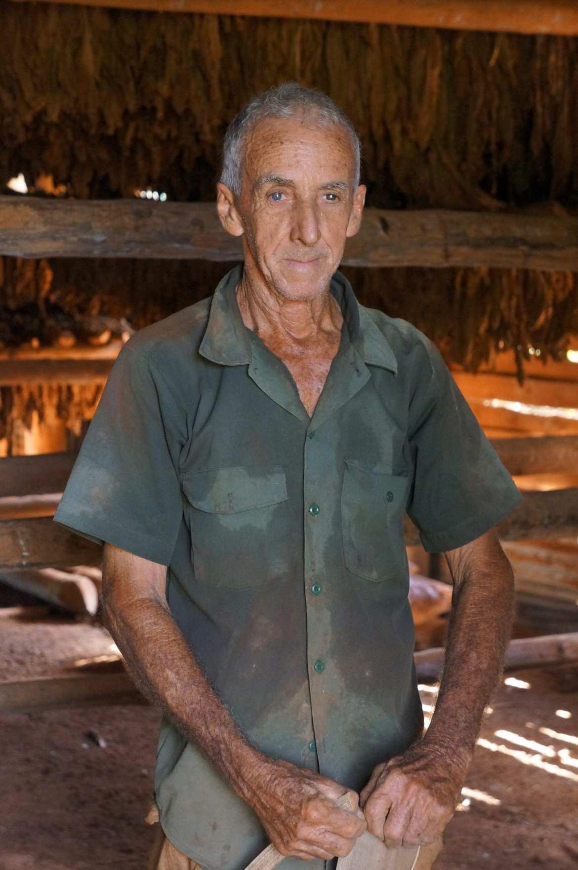 tobacco farmer in vinales, cuba