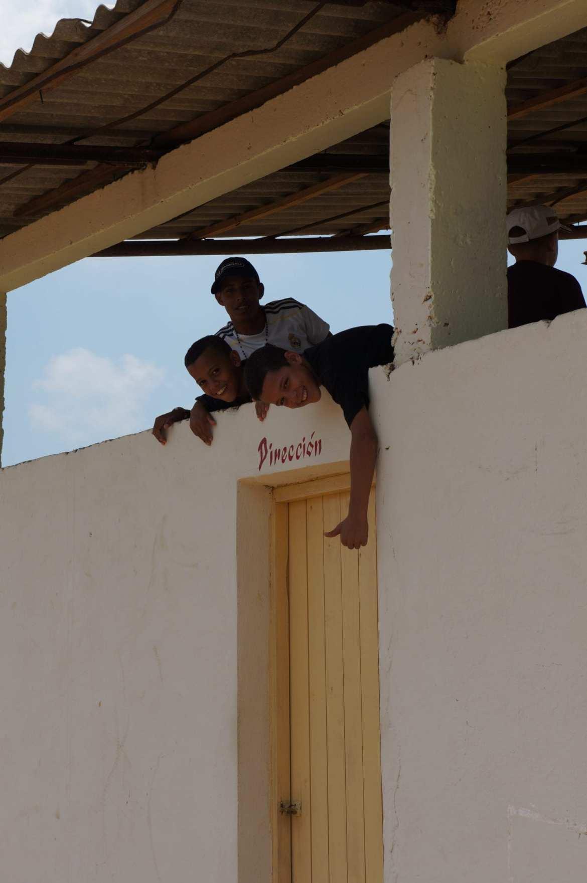 baseball fans posing at the stadium in vinales, cuba