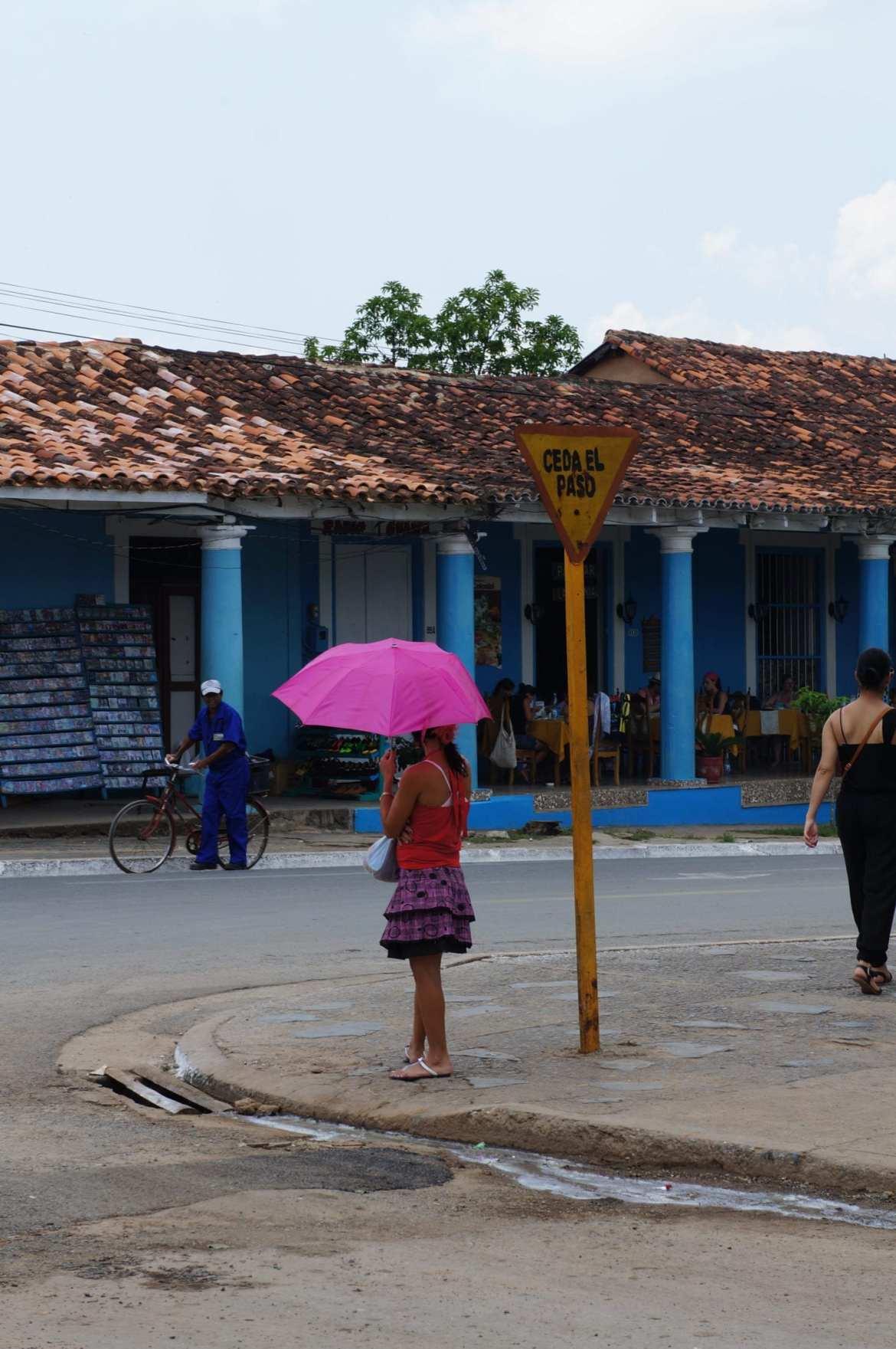 street scene in vinales, cuba