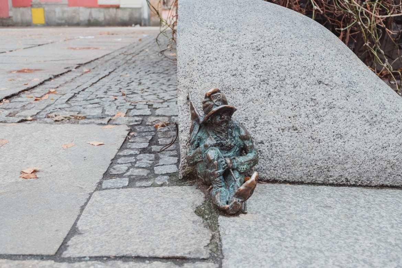 sleeping dwarf in Wroclaw, poland