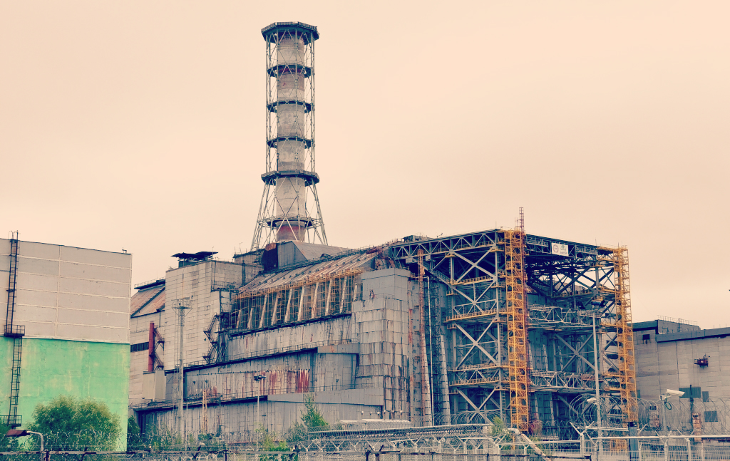 Chernobyl Power Plant Before Covering