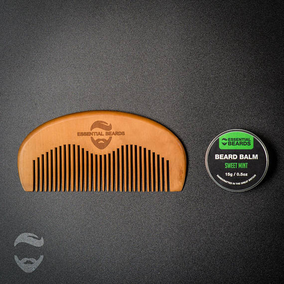 Essential Beards Beard Balm & Beard Comb