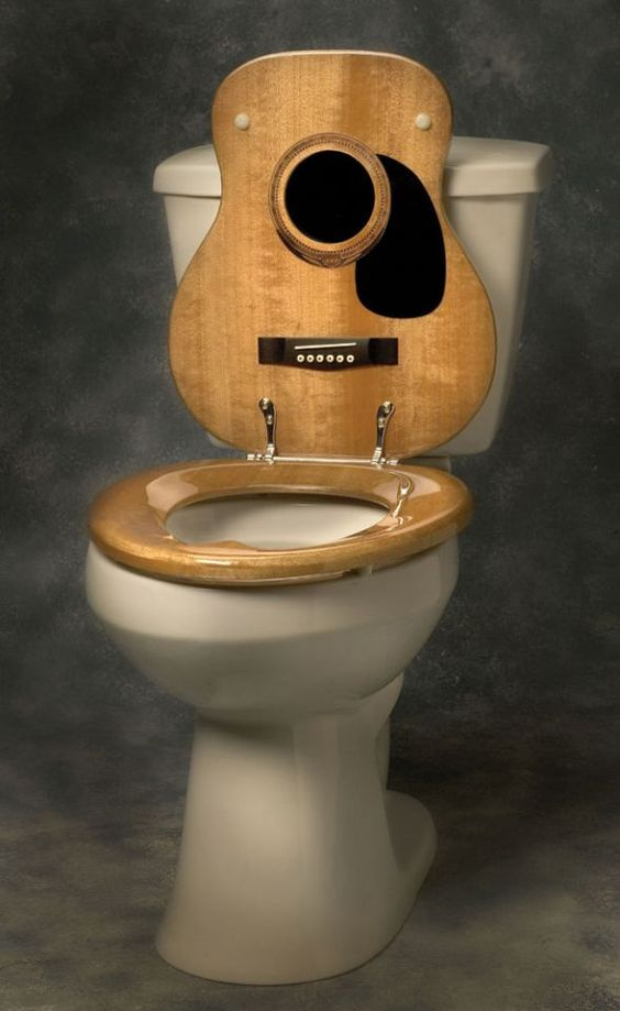 Guitar body come toilet seat