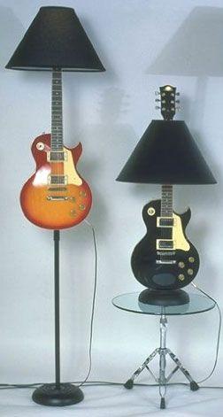 Guitar come lamp