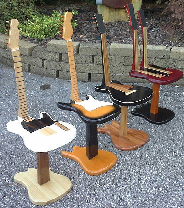 Guitars come chairs