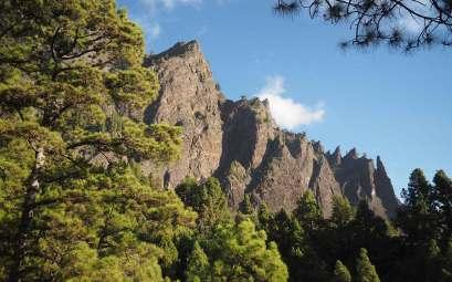 Les falaises de la Caldera de Taburiente
