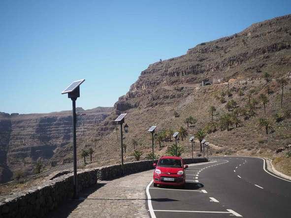 Notre voiture de location sur l'île de La Gomera.