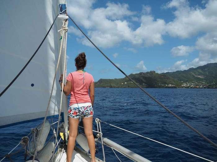 Navigation au large de l'île de Saint Vincent.