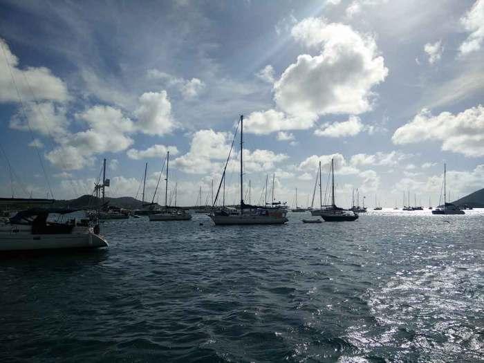 Mouillage du Marin en Martinique.
