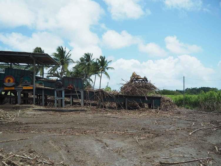 Distillerie de rhum Bielle sur l'île de Marie-Galante.