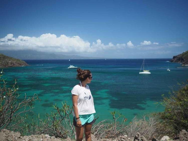 L'Anse Marigot dans le petit archipel des Saintes en Guadeloupe.